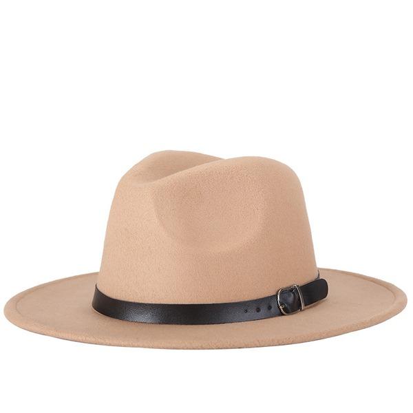 Unisexe Style Classique Feutre Chapeau Fedora