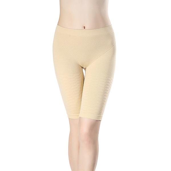 Kobiety Klasyczny Spandex Oddychalność Mid-Rise Spodenki Z Żakard Bielizna Modelująca