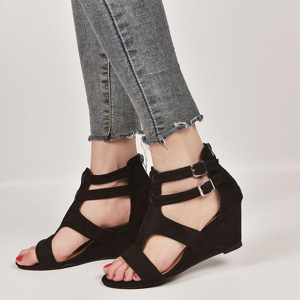 Women's Suede Wedge Heel shoes