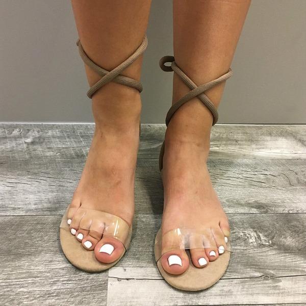 Vrouwen Suede Flat Heel Sandalen Flats Peep Toe Slingbacks met Vastrijgen schoenen