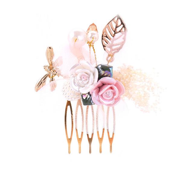 Damer Pen Legering/Plast Kammer og Barrettes med Venetianske Perle