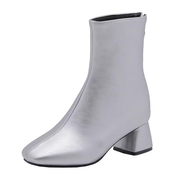 Kvinner Lær Stor Hæl Støvler sko