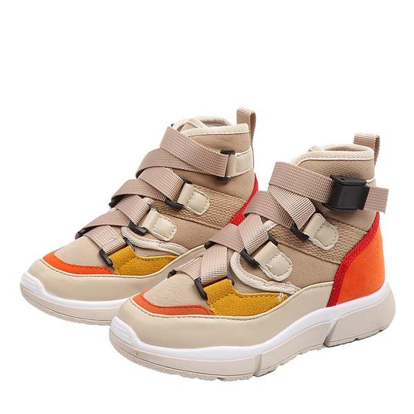 Unisexe bout rond Bout fermé Cuir verni talon plat Chaussures plates Bottes Sneakers & Athletic avec Dentelle