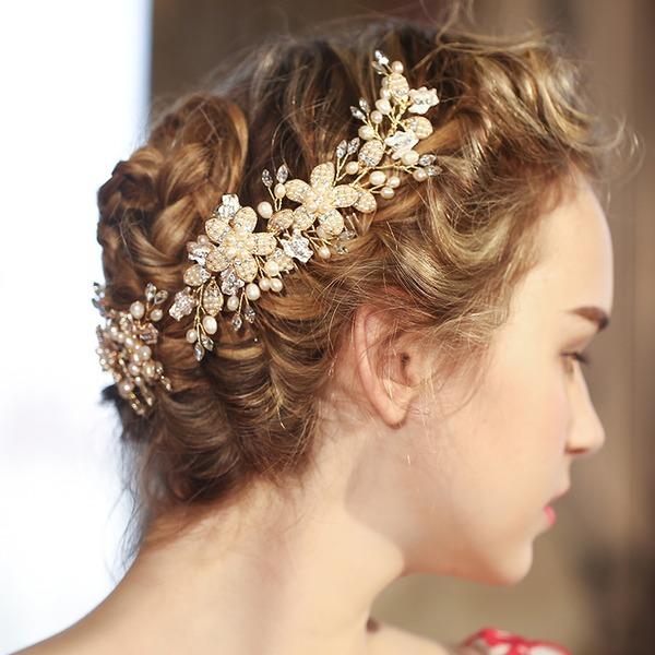 Magnifique Cristal/Strass/Perles épingles à cheveux/Des peignes et barrettes (Lot de 3)