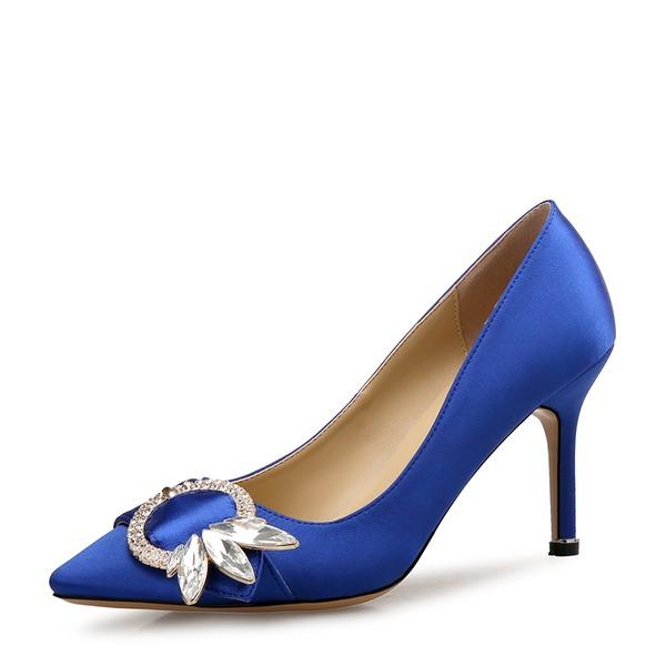 Donna Raso Tacco a spillo Stiletto Punta chiusa con Fibbia scarpe
