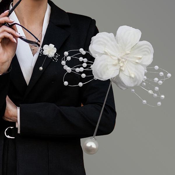 Romantico Cotone Fiore all'occhiello (venduto in un unico pezzo) -