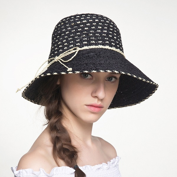 Ladies' Beautiful/Lovely Raffia Straw With Bowknot Straw Hat/Beach/Sun Hats
