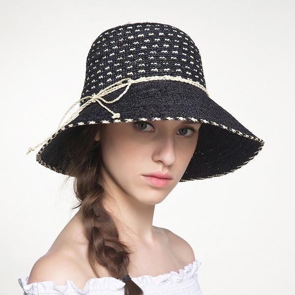 Sonar Naisten Kaunis/Lovely Punoitetut paalinpurkain jossa Bowknot Olkihattu/Beach / Sun hatut