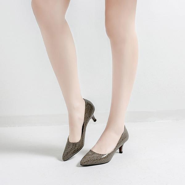 Femmes Similicuir Talon stiletto Escarpins Bout fermé avec La copie Animale chaussures