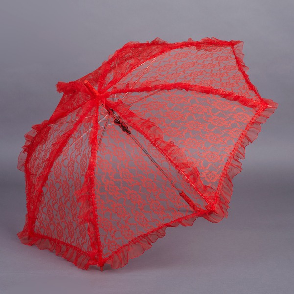 Lace Wedding Umbrellas With Embroidery