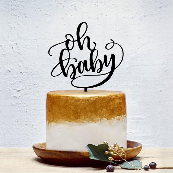 Baby auf dem Weg/Alles Gute Zum Jubiläum Acryl Torten-Dekoration