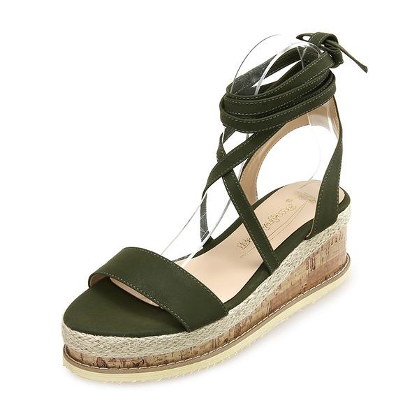 Femmes Similicuir Talon compensé Sandales Compensée chaussures