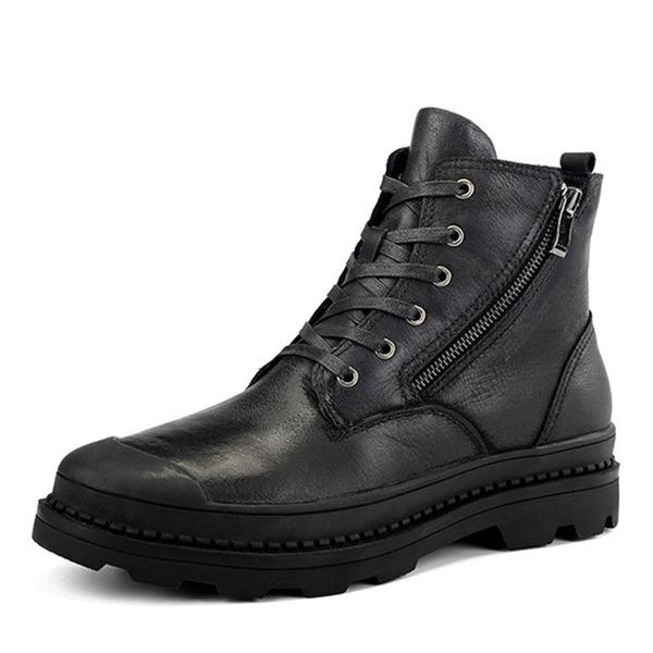 Мужская натуральня кожа шнуровка Chukka вскользь Men's Boots