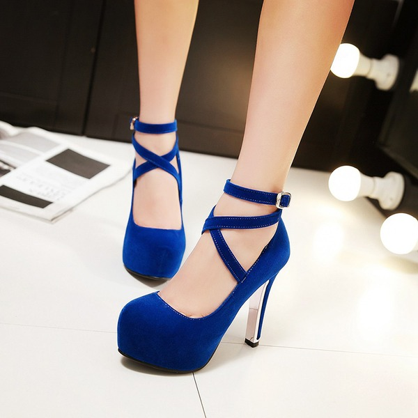 Women's Suede Stiletto Heel Pumps Platform shoes