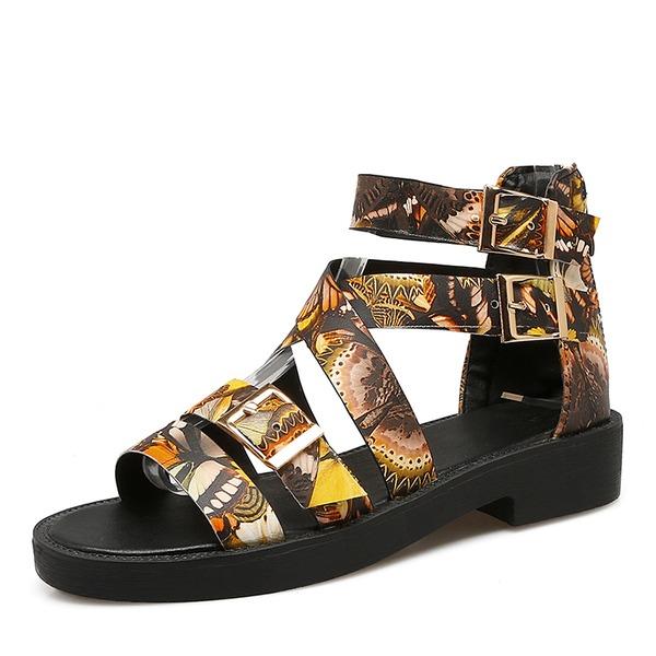 Donna PU Senza tacco Sandalo con Fibbia scarpe