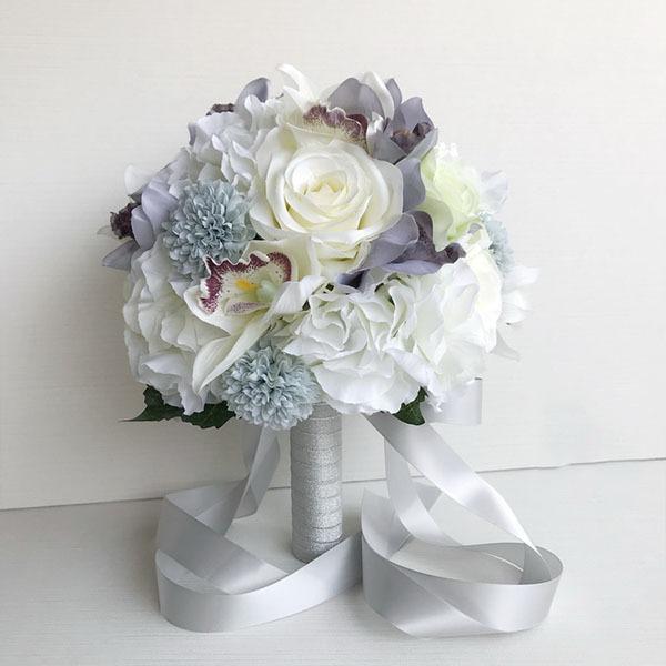 Fioritura Rotondo Mazzi da sposa/Mazzi damigella d'onore -