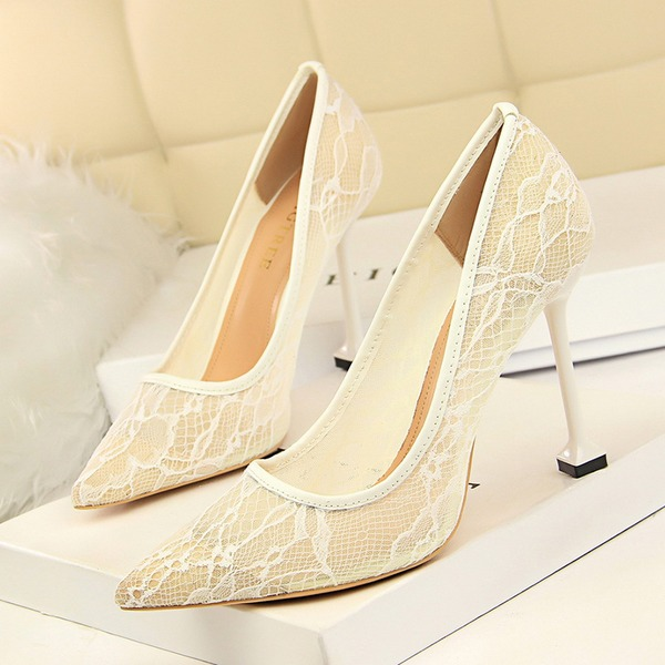 Women's Mesh Stiletto Heel Pumps Closed Toe With Others shoes