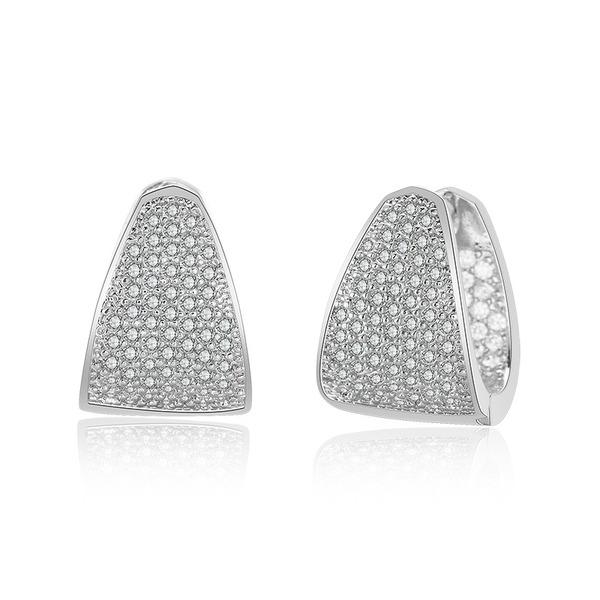 Ladies' Simple Copper/Cubic Zirconia Cubic Zirconia Earrings For Bride