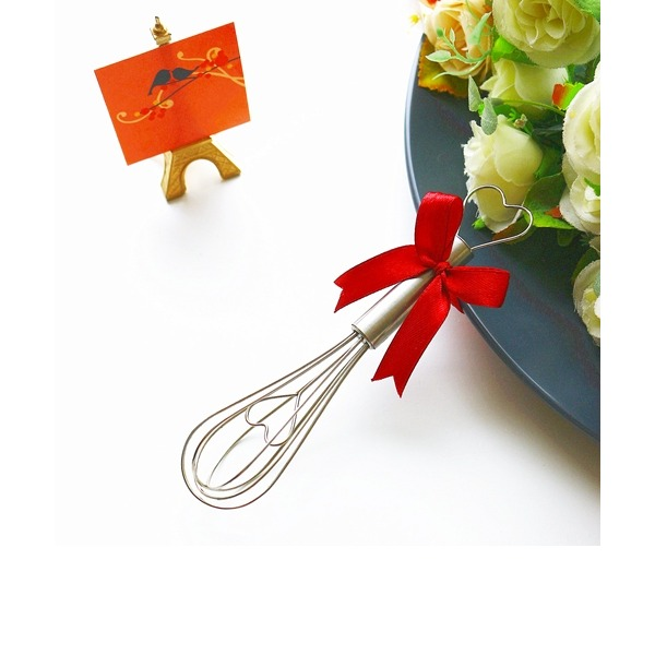"""Tea Time"" Heart Shaped Metal Stirrers (Sold in a single)"