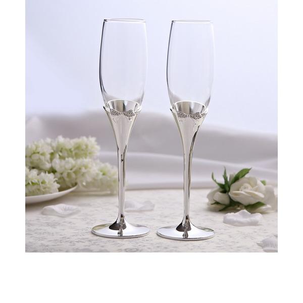 Bowknot mallen Blyfritt glas Rostning Flöjter (Sats Om 2)