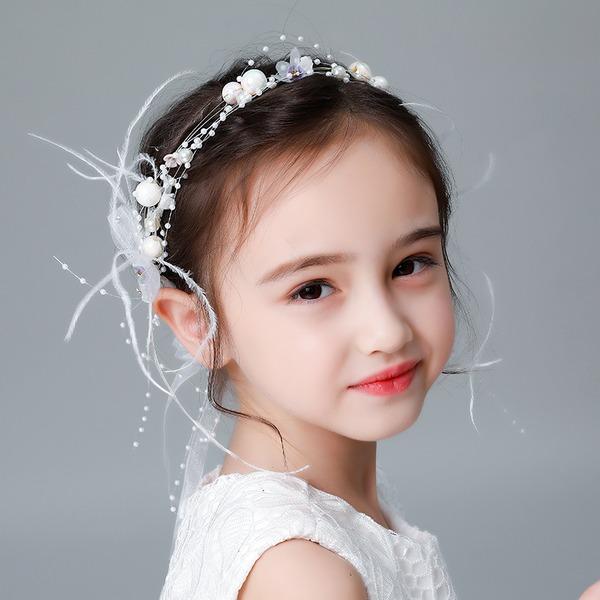 Kids Efterspurgte Rhinsten/Legering/Imiteret Pearl/Silke Blomst Tiaraer med Rhinsten/Venetiansk Perle (Sælges i et enkelt stykke)