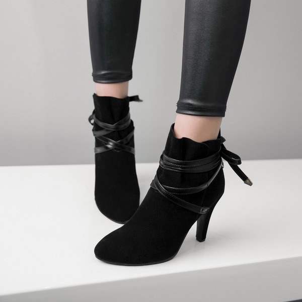 Women's Suede Stiletto Heel Pumps Boots Ankle Boots With Others shoes