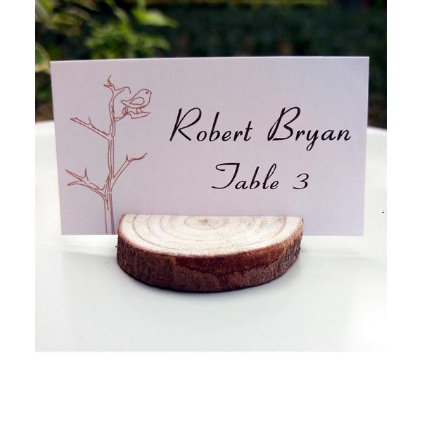 4pcs/set - Wood Slice Card Holder DIY Party Decoration R: 3-4cm H: 1cm (Set of 4)