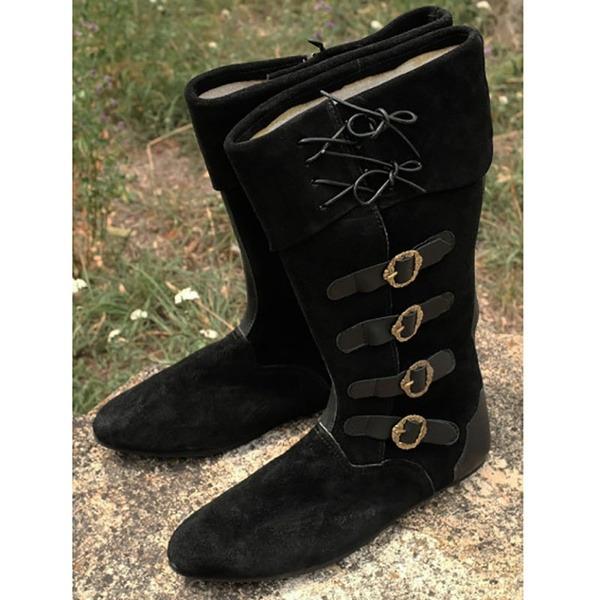 Kadın Süet Düz Topuk Mid-Buzağı Boots Kar Boots Ile Toka Bağcıklı ayakkabı