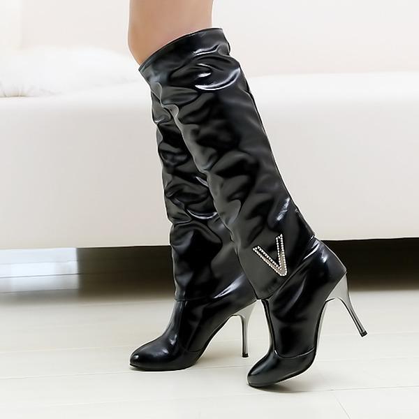 Frauen Kunstleder Stöckel Absatz Absatzschuhe Geschlossene Zehe Stiefel Stiefelette Kniehocher Stiefel Reitstiefel mit Andere Schuhe