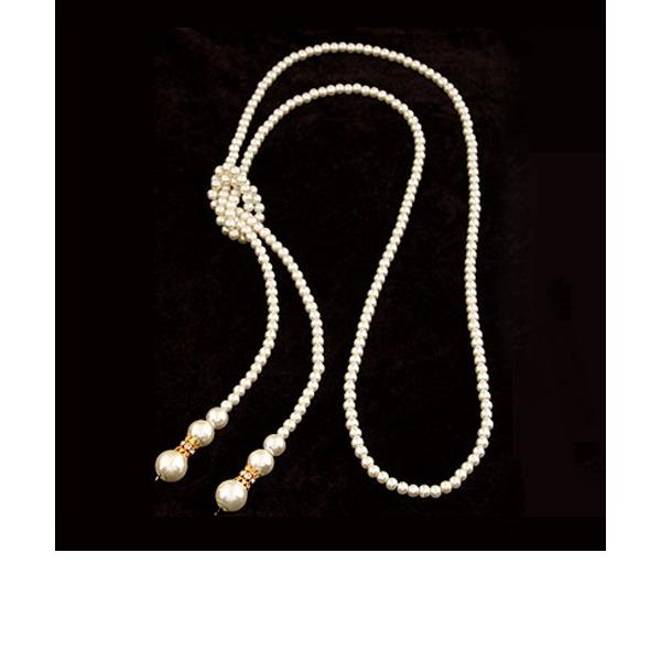 Prächtig Legierung mit Nachahmungen von Perlen Strass Damen Mode-Halskette