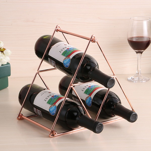 simple classic Plating Wine Rack