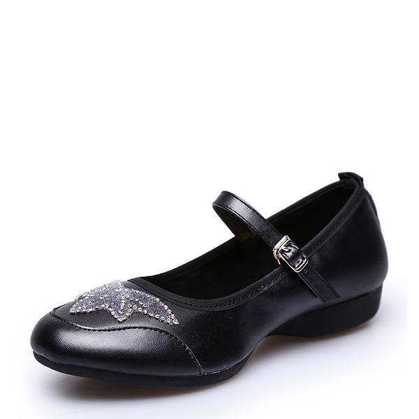 Femmes Vrai cuir Tennis Chaussures de Caractère avec Motif appliqué Chaussures de danse