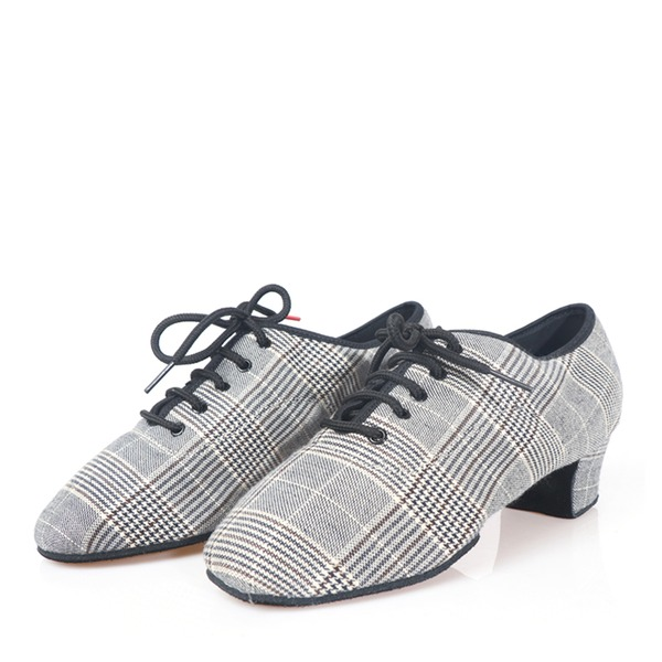 Men's Canvas Heels Latin Dance Shoes