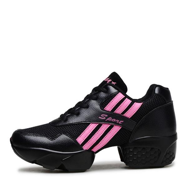 Мужская кожа сетка Танцевальные кроссовки Современный Танцевальные кроссовки Практика Обувь для танцев