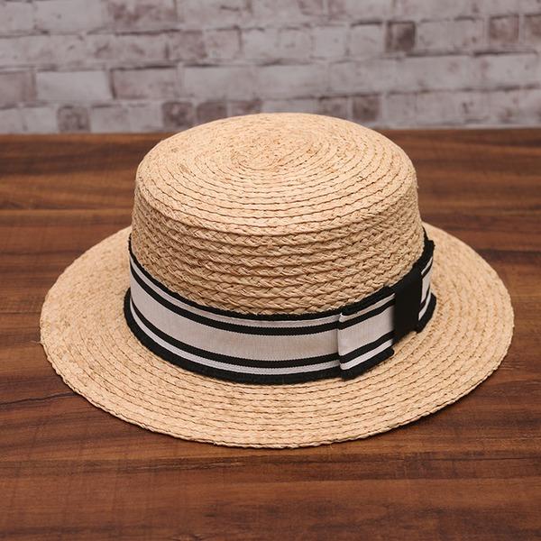 Ladies ' Móda/Klasický Rafie slámy S Bowknot Slaměný klobouk