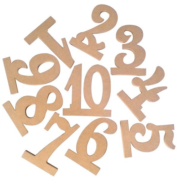 Klassische Art Aus Holz Tabellen-Zahl-Karten (Satz 10)