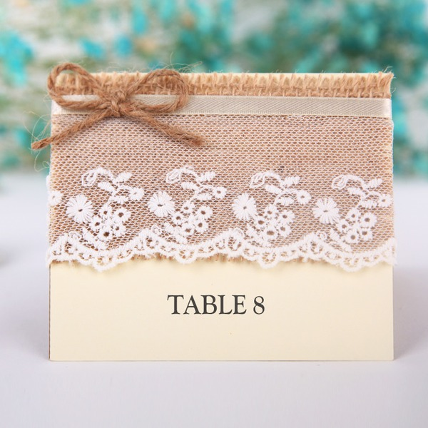 Linen/Card Paper Table Number Cards (Set of 10)