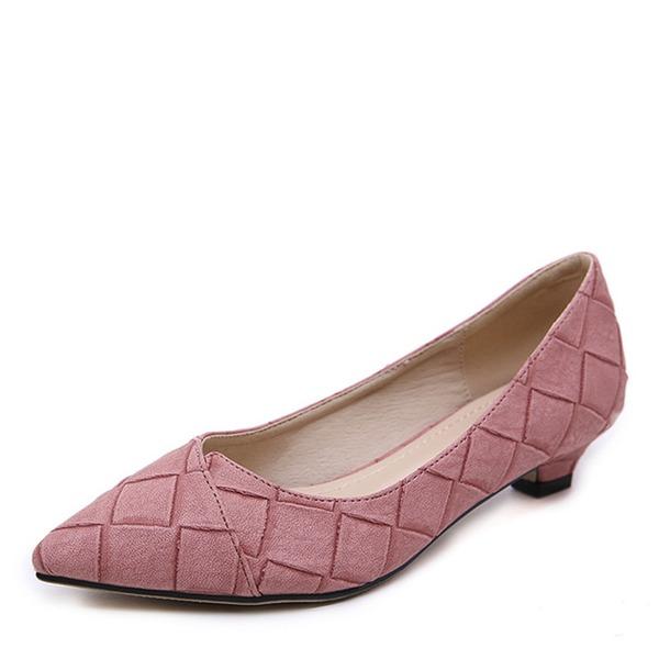 Vrouwen Kunstleer Low Heel Pumps Closed Toe met strik schoenen