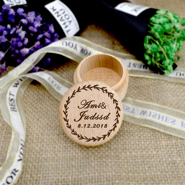 Elegant/Personalized Wood Ring Box