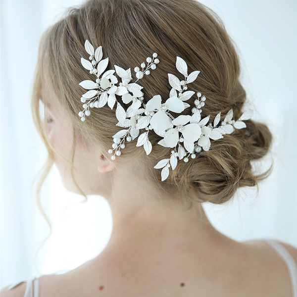 Classic Alloy Hairpins With Rhinestone/Venetian Pearl (Sold in single piece)