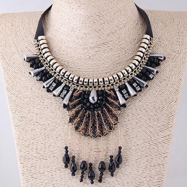 Fashional Alloy Rhinestones Ladies' Fashion Necklace