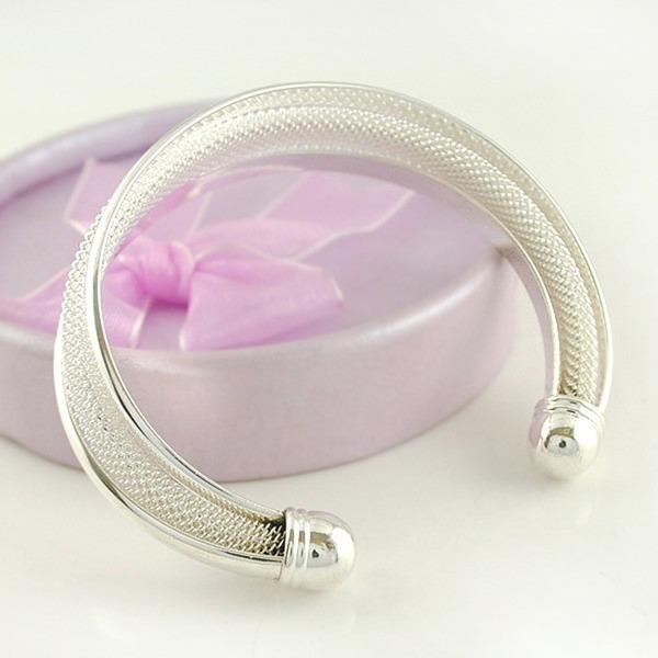 Magnifique Alliage Argent plaqué Femmes Bracelets de mode (Vendu dans une seule pièce)
