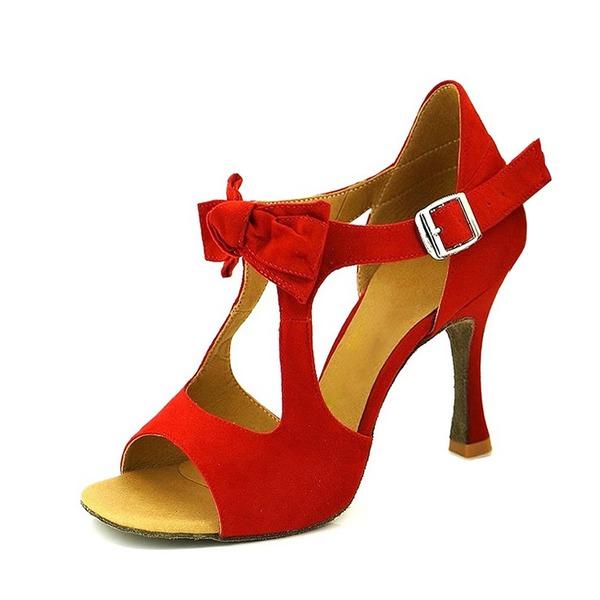 De mujer Ante Tacones Sandalias Salón Danza latina Zapatos de danza