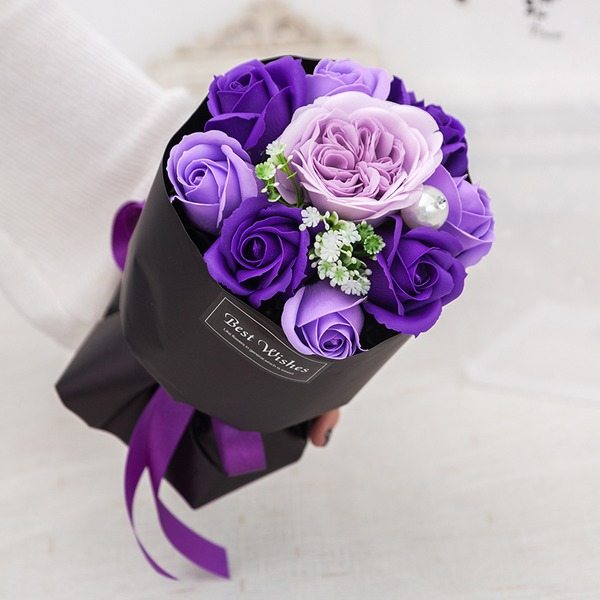 Hand-tied Soap Flower Bridal Bouquets (Sold in a single piece) - Bridal Bouquets
