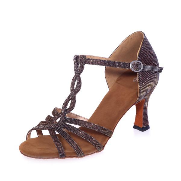 Vrouwen Kunstleer Hakken Sandalen Latijn met T-Riempjes Dansschoenen