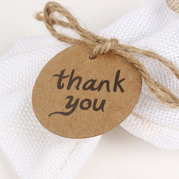 "100pcs ""Thank You"" Round  Kraft Paper Tags"