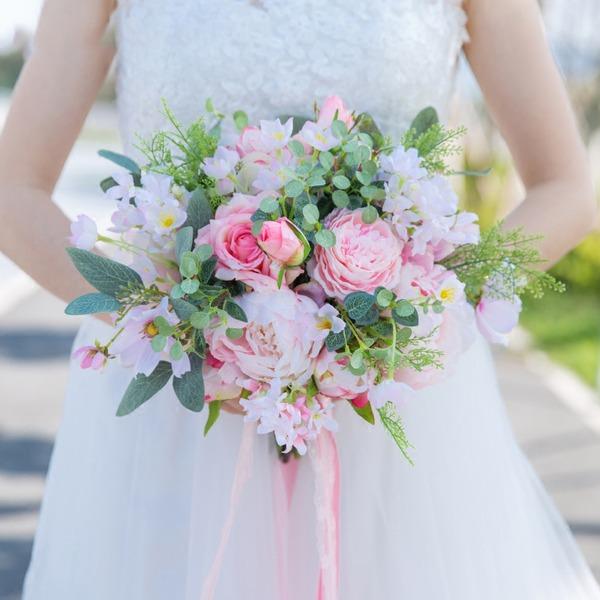 Jolie Forme libre Satiné/Tissu Bouquets de mariée -