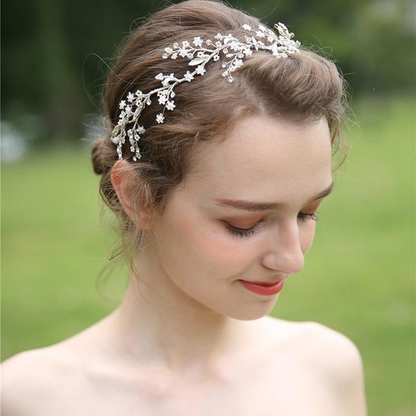 Damer Vackra Och Strass/Legering/Pärlor Pannband (Säljs i ett enda stycke)