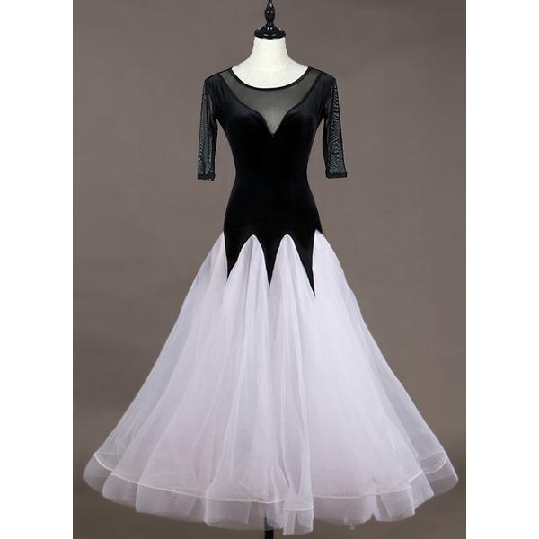 De mujer Ropa de danza Del spandex Organdí Desempeño Vestidos