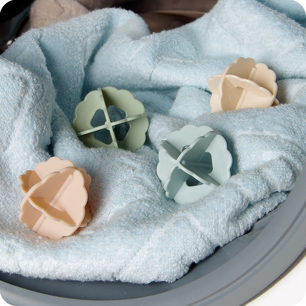 Plástico Bolas de lavagem de bolas de bolas mantendo a lavanderia Máquina de lavar roupa suave Fresco de tecido de secagem (Conjunto de 4) Presentes